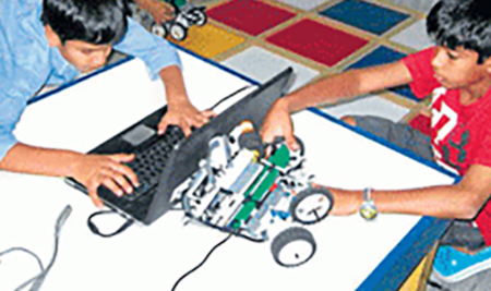 Robotics camp enthrals young ones