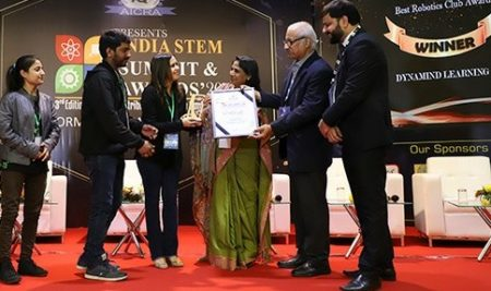 Best Robotics Club Award at the India STEM Summit, February 2020
